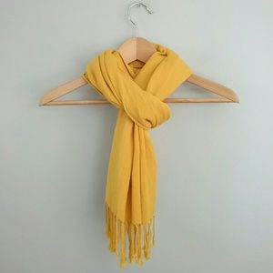 Unbranded//Yellow Rayon Scarf